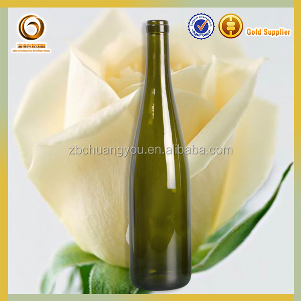 Glassware Manufacturer Handmade glass 750ml red wine glass rhine bottle