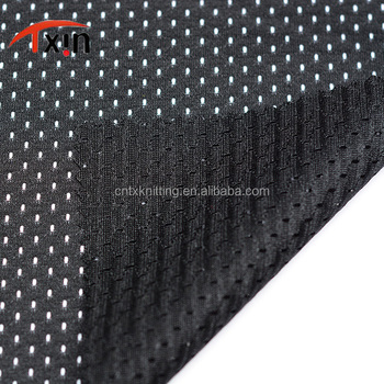 uv resistant fabric polyester mesh fabric for vest wear and yoga uniform fabric