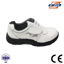 DP white buffalo leather with breathable mesh fabric safety shoes in korea