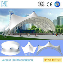 Outdoor Tensile Membrane Structure Canopy with Large Span Steel Truss