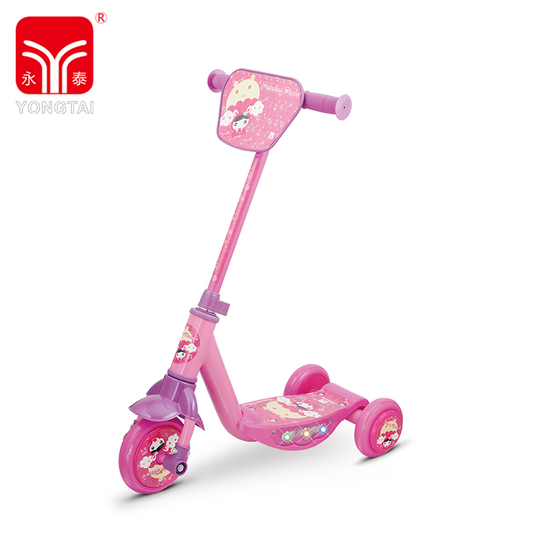 Colorful Mini Kids 3 Wheel Kids Kick Scooter, High Quality Adjustable Scooter With Flashing Light And Music
