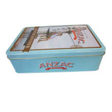Food grade Customized designed cookie rectangular tin box