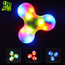 High Quality Wholesale Bluetooth Music ABS Wind Hand Finget Spinner Toys Hot Sale Custom Colorful Fidget Spinners With Led Light