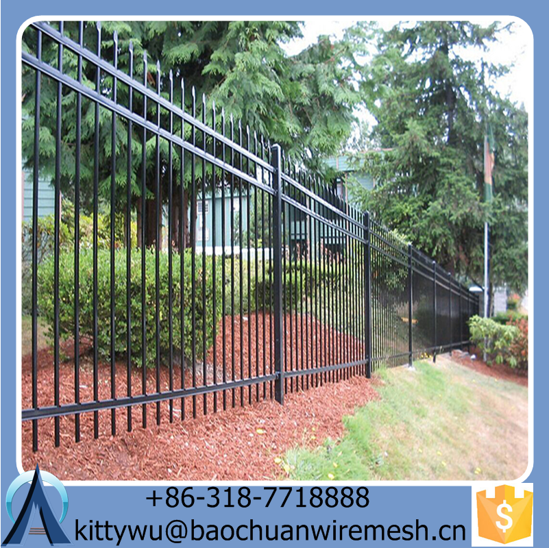 Galvanized Steel Fence gate/ Wrought Iron Fence/ Aluminum Fence gate
