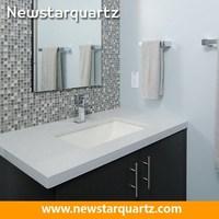 White Quartz Bathroom Countertops Bathroom White Design