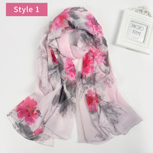2017 fashion flowers printed design women muslim hijab shawl indian silk chiffon scarf pure silk scarf