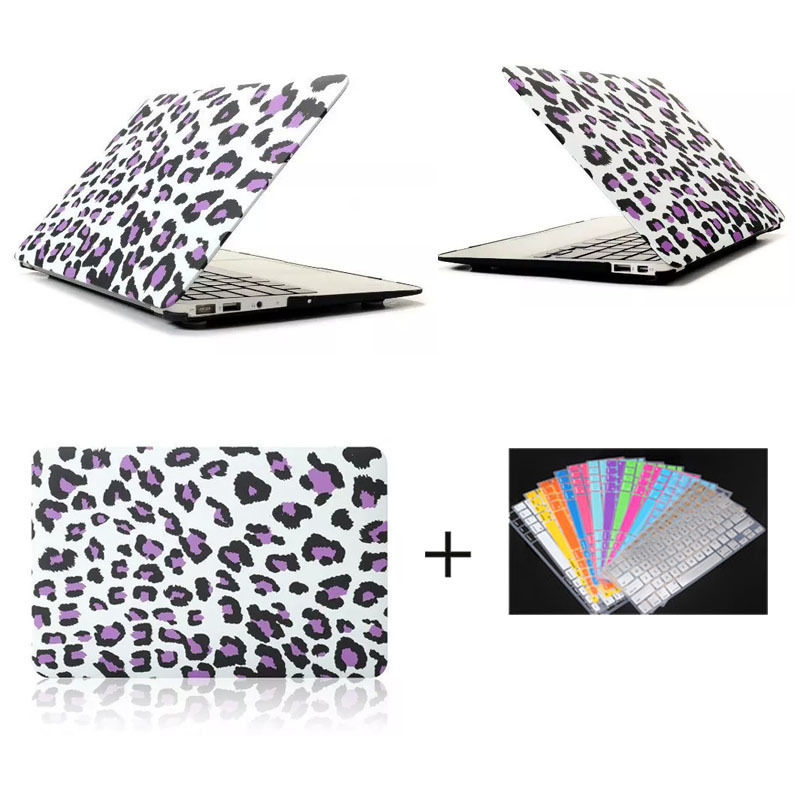 Shell Case for Macbook Air 11.6' 13.3', for Macbook Purple Leopard pc shell case with keyboard protector