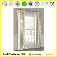 Fashion New Design Latest Style 100 Polyester Jacquard Fabric Curtain