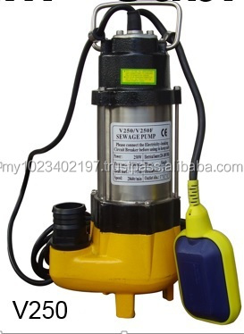 Stainless Steel Submersible Sewage Pump V250, V250F (Auto)