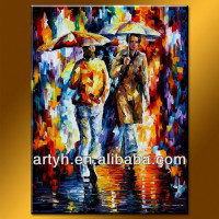 Palette Knife Painting Home Decor Figure Pictures With High Quality