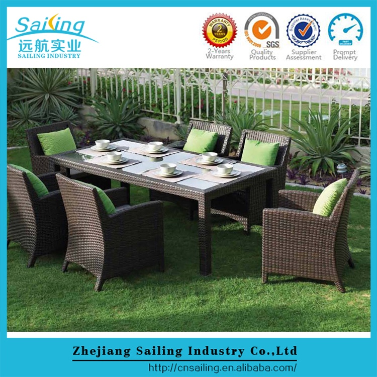 All weather garden poly rattan furniture
