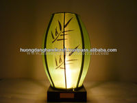sleeping lamp with iron frame and yellow silk