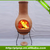 Factory hot sale outdoor clay fire chiminea for home and garden