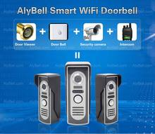 Newest!! WiFi Wireless Wi-Fi IP Video Door Bell,Night Vision Motion Detection Security Door Eye 720P CMOS Camera with
