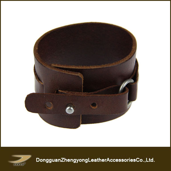 Plain leather customized leather bracelets and bangles