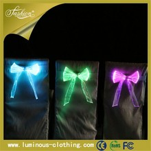 Led light changed optic fiber luminous chair decoration for wedding