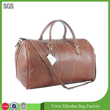 Genuine Italian Leather Duffle Weekend Travel Overnight Men Travel Bag