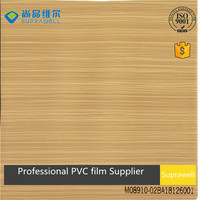 Classic linetype wood grain PVC film for interior decoration