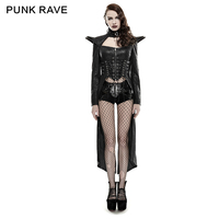 Y-670 PUNK Wholesale Domineering Queen Long Rider Sexy PU Leather Womens Jacket