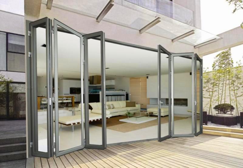 Office Australian Standard Aluminum Folding Door For Hotel And Villa
