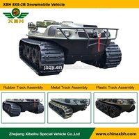 8X8 2B Snowmobile Amphibious Vehicle Green