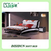 leather headboard bed modern leather soft bed