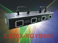 4 Heads Multi Colors RGYB 600mW Stage Laser Light for Disco Party