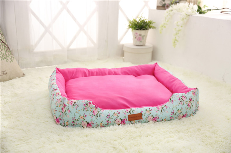 luxury custom logo pet accessories square dog bed