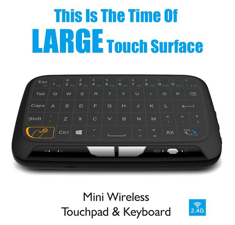 H18 Full Touchpad Mini Wireless Keyboard 2.4GHz Air Mouse for TV Box Pad IPTV PC HTPC HD Player