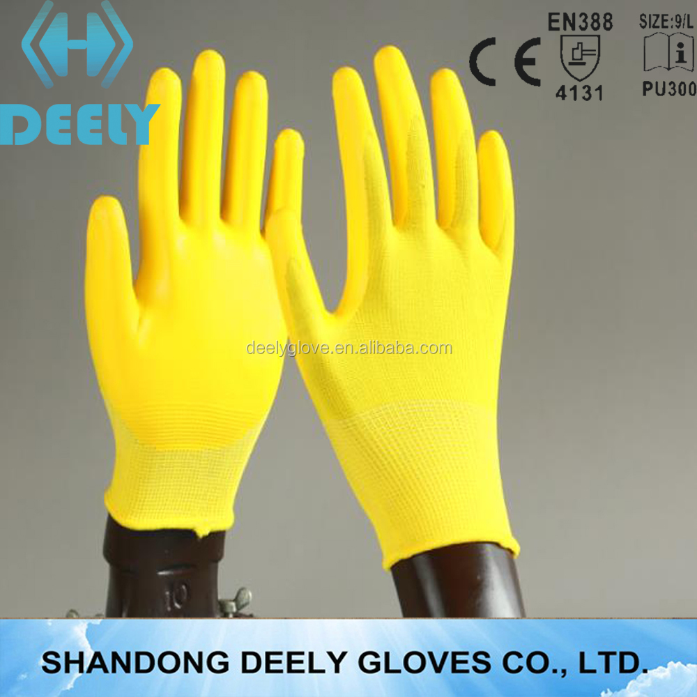 13 gauge nylon nitrile palm coated flower printing gardening glove