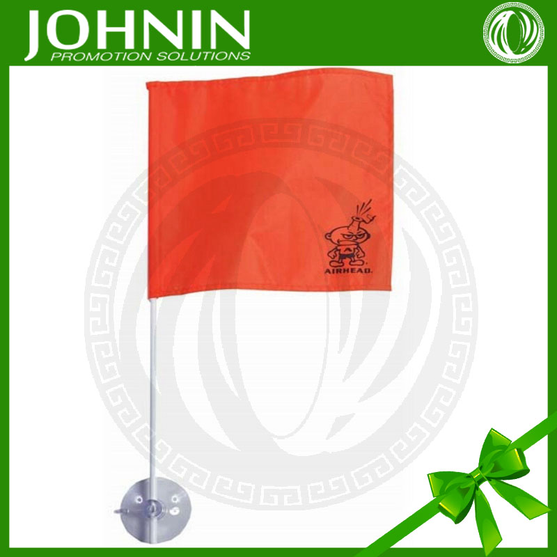 best sales high quality plastic pole red color hand suction flag