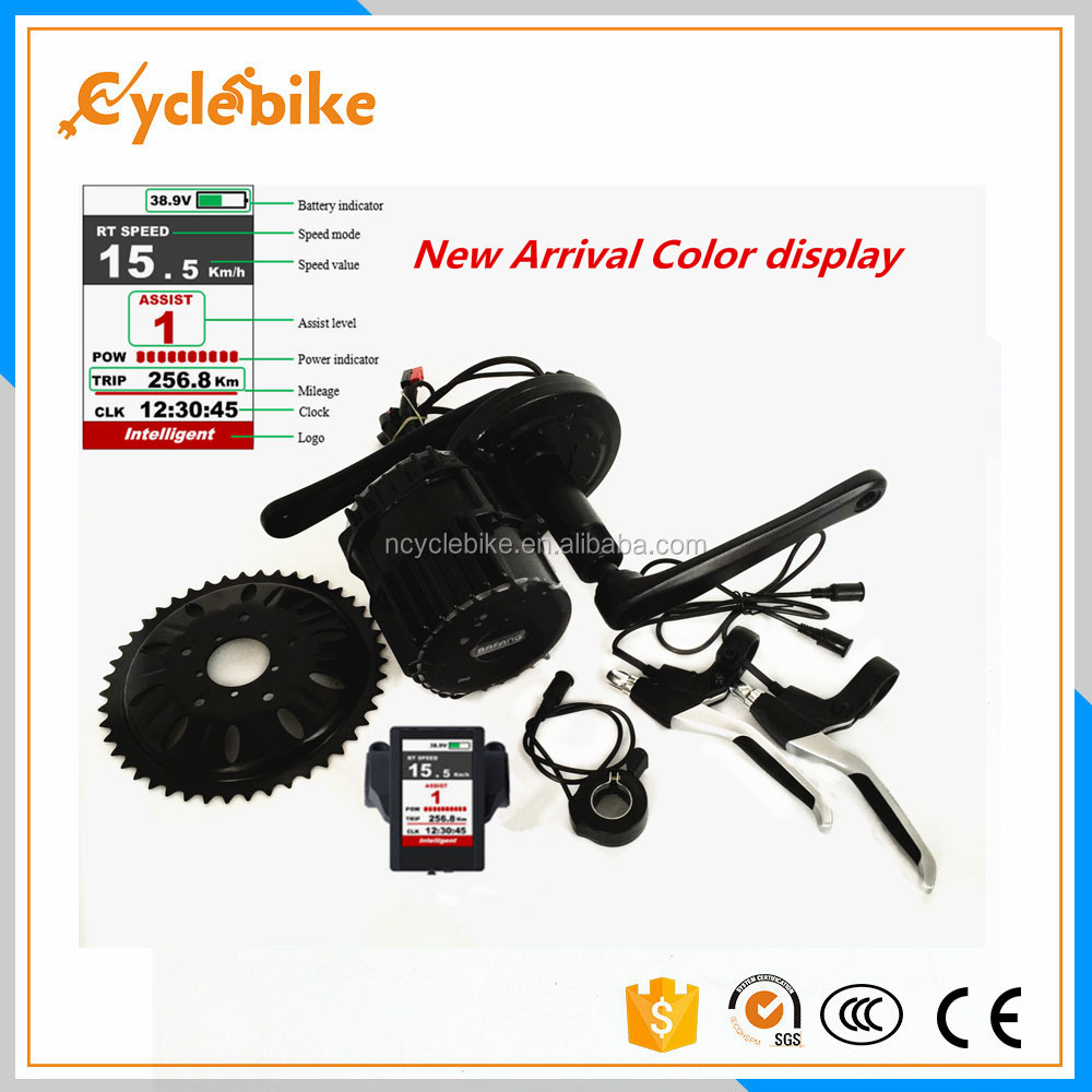 The newest bafang 8 fun 48v 1000w mid drive motor e bike kit with colorful display