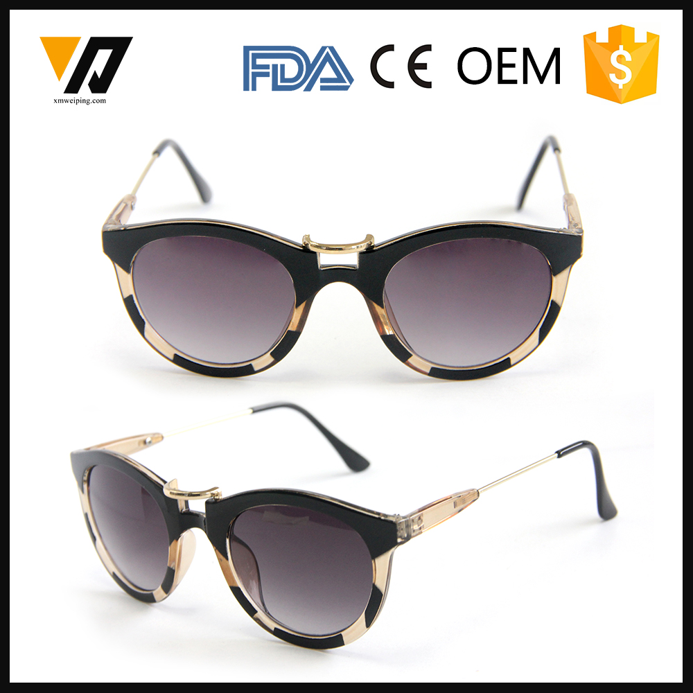 Fashionable Simple Promotional Plastic Style korean injection sunglasses