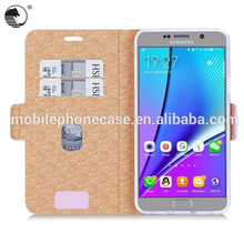 For Samsung Note 5 High Quality Assorted Color Mobile Flip Case Cover