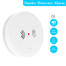 Wireless Cordless Standalone Photoelectric Smoke Detector Fire Alarm Sensor Home House Office Security Alarm System