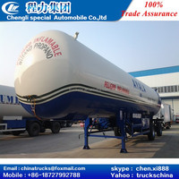 008618727992788 CLW 3 axles 56cbm GPL tank truck trailer with trade assurance