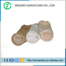 Chinese supplier fiberglass dust collector filter bag / glass needled felt fabric filter bag