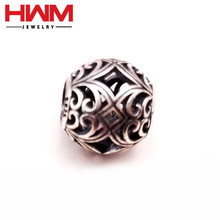 Silver Beads High Quality Charms Silver and antique vintage European Beads For Charm Bracelet Making