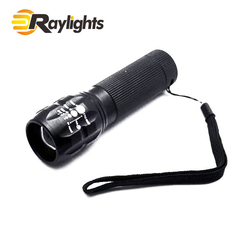 Telescopic Focus Long-range Aluminum alloy LED Flashlight