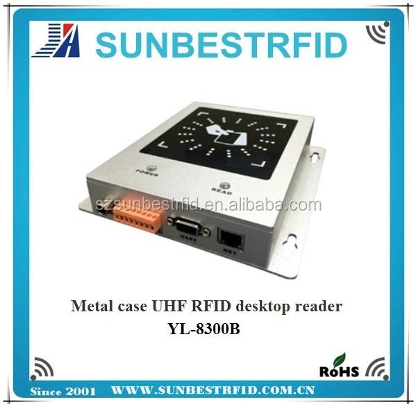 915MHz Metal case UHF RFID desktop reader ISO18000-6C/EPC C1G2