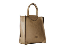 Stylish design Dual leather-woven handles full grain leather Bianca Tote