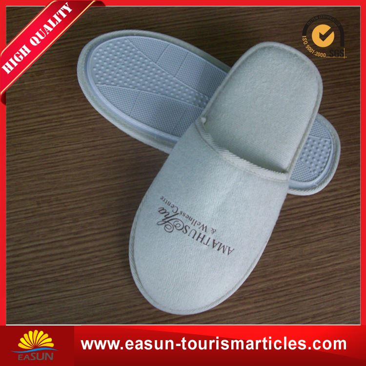 Low price disposable slippers for wedding cotton jersey airline slippers cotton jersey airline slippers