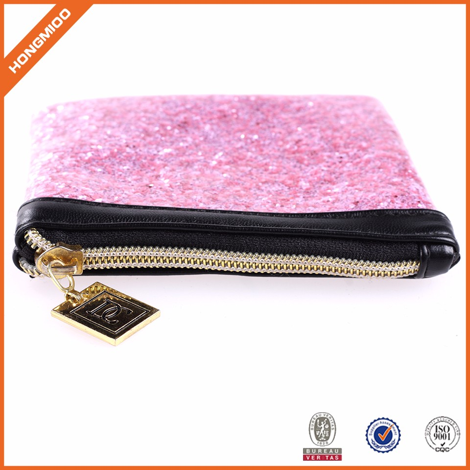 Waterproof Custom Shiny Zip Top Coin Purse