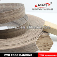 Furniture parts of 3mm pvc edge banding with high quality