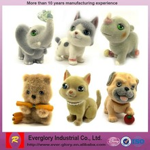 China supply best price toys, Made in factory flocked animals toy