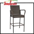 Outdoor Brown Wicker Barstool Outdoor Patio Furniture Bar Stool
