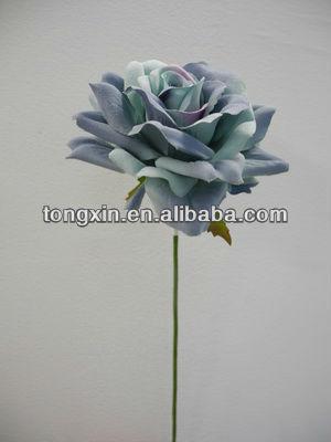 27271ML36 craft artificial floral velvet christmas single flower with plastic stem corn husks flowers