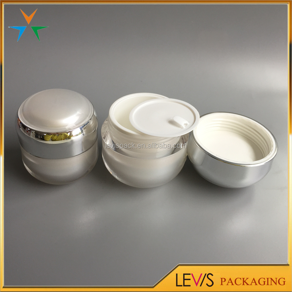 30g 50g plastic luxury acrylic cylinder container