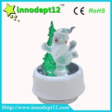 Acrylic Christmas ornament miniature music box movement, led musical boxes for children