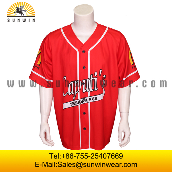 Hot Sell Sublimation Custom Embroidery&Tackle Twill Baseball Jersey